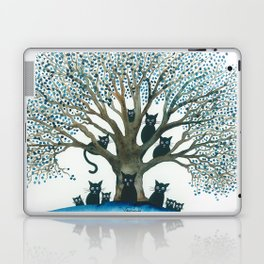 Lombardy Whimsical Cats in Tree Laptop & iPad Skin