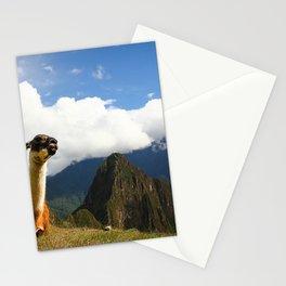 Llama in Machupicchu Stationery Cards