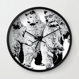 Funky Bears Wall Clock