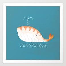 Legal Whale-Sushi Art Print