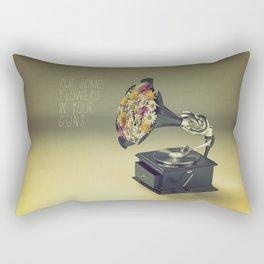 put some flowers in your guns Rectangular Pillow