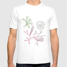 Seaweed and Lotus Root MEDIUM Mens Fitted Tee White