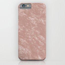 Soft rose gold velvet iPhone Case