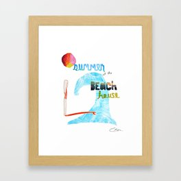 Summer at the Beach House Framed Art Print