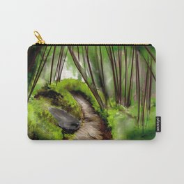 Small Path In Woods Ultra HD Carry-All Pouch