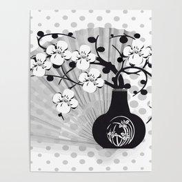 Stillleben Kirschblüten Poster