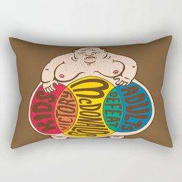 McDonalds. Victory. Defeat.  Rectangular Pillow