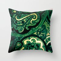 paisley Throw Pillows featuring Paisley by Kim Ramage