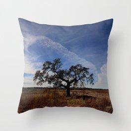 Lone Oak Tree, Laguna de Santa Rosa, Sonoma County Throw Pillow