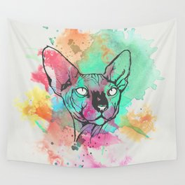 Watercolor Sphynx Wall Tapestry