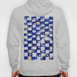 Blue and White Checks Hoody