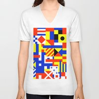 sail V-neck T-shirts featuring Sail by Jan Luzar