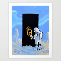 Happy In Space Art Print
