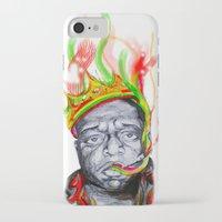 biggie smalls iPhone & iPod Cases featuring Biggie Smalls by Liam Reading