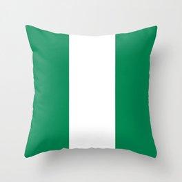 Flag of Nigeria Throw Pillow