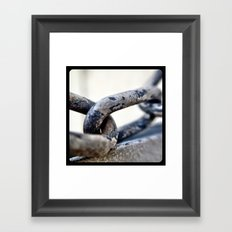 Chains. Framed Art Print