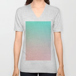 HEAVY RAINS - Minimal Plain Soft Mood Color Blend Prints Unisex V-Neck
