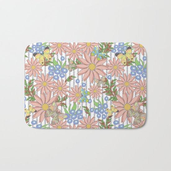 cute floral pattern Bath Mat