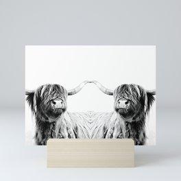 HIGHLAND CATTLE FRIDA Mini Art Print