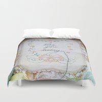 i like you Duvet Covers featuring i like you today by dottie angel