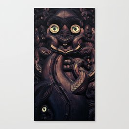 NEW ZEALAND CARVING Canvas Print