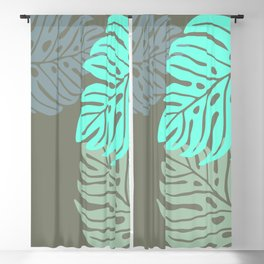 Hawaiian leaves pattern N0 2, Art Print collection, illustration original pop art graphic print Blackout Curtain