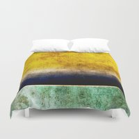 number Duvet Covers featuring Number 5 by Red Coat Studio Design