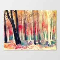 woods Canvas Prints featuring Woods by takmaj