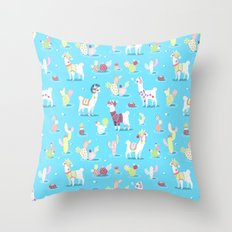 Alpaca Pattern Throw Pillow