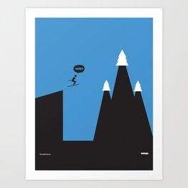 WTF? Ski Art Print
