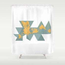 Dymaxion Map Shower Curtain