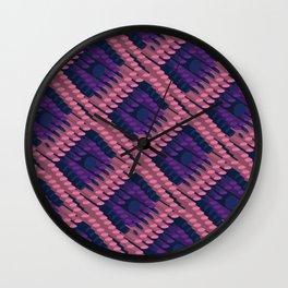 3D Dotted BG Wall Clock