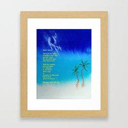 Tropical Storm, #2 with Poem Framed Art Print