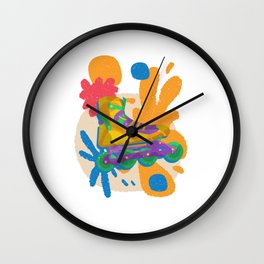 Colorful Inline Skating Roller Skates Rollerblading Gift Wall Clock