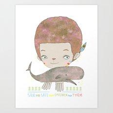 Extinction - SAVE SAFE Art Print