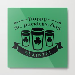 Happy St. Patrick's Day Metal Print