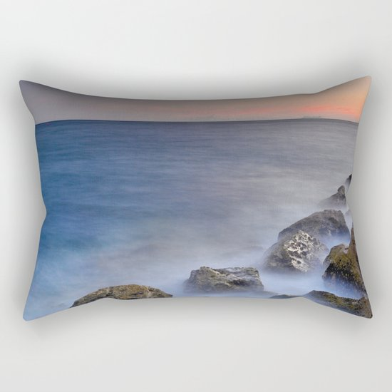 """""""The struggle of the sea"""" Rectangular Pillow"""