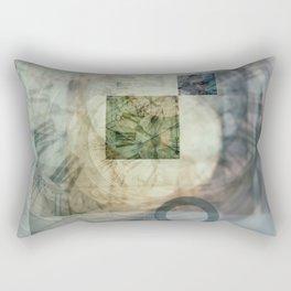 multi exposure clock  2 Rectangular Pillow