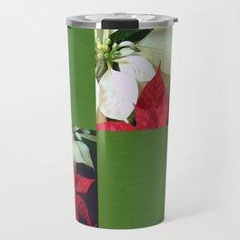 Mixed Color Poinsettias 2 Blank Q5F0 Travel Mug