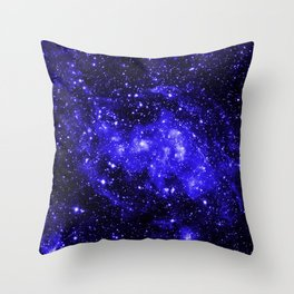 Chandra #1 Blue Throw Pillow