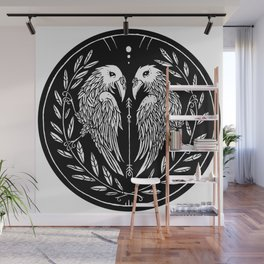 Two Ravens Wall Mural