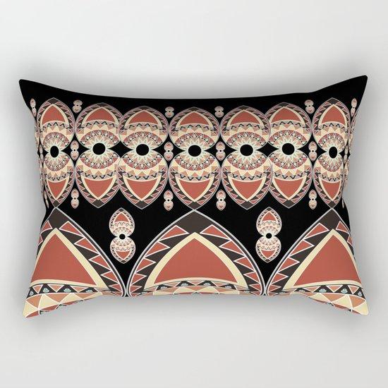 Ethnic petals. Pattern. Rectangular Pillow
