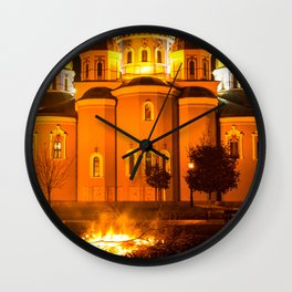 glowing church Wall Clock