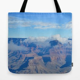 morning clouds forming Tote Bag
