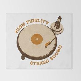 Retro DJ's Turntable Throw Blanket