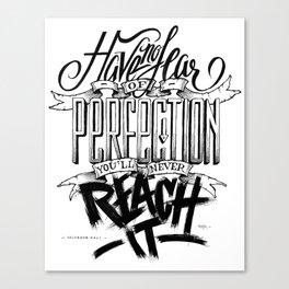 Quote - Dali 2 - Typedesign Canvas Print