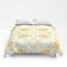 Yellow spring flowers Comforters