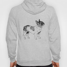 French Bulldog Ink Drawing Hoody