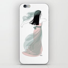 Bridal Collection - Bride In The Wind iPhone Skin