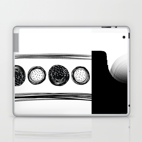 Black White One Laptop & Ipad Skin by Karapeters LSK9062757